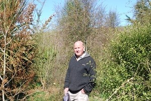 Trees Roger Taylor planted on his Coalgate farm are now taller than he is.