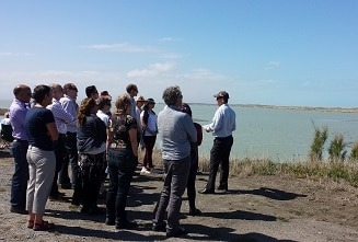 Environment Canterbury and Whakaora Te  Waihora staff join Papatipu Rūnanga members  for a science update around the lake.